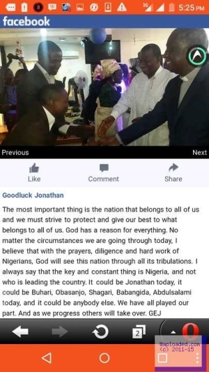 What Ex-President Jonathan Said To Nigerians About The State Of The Nation (Snapshot)